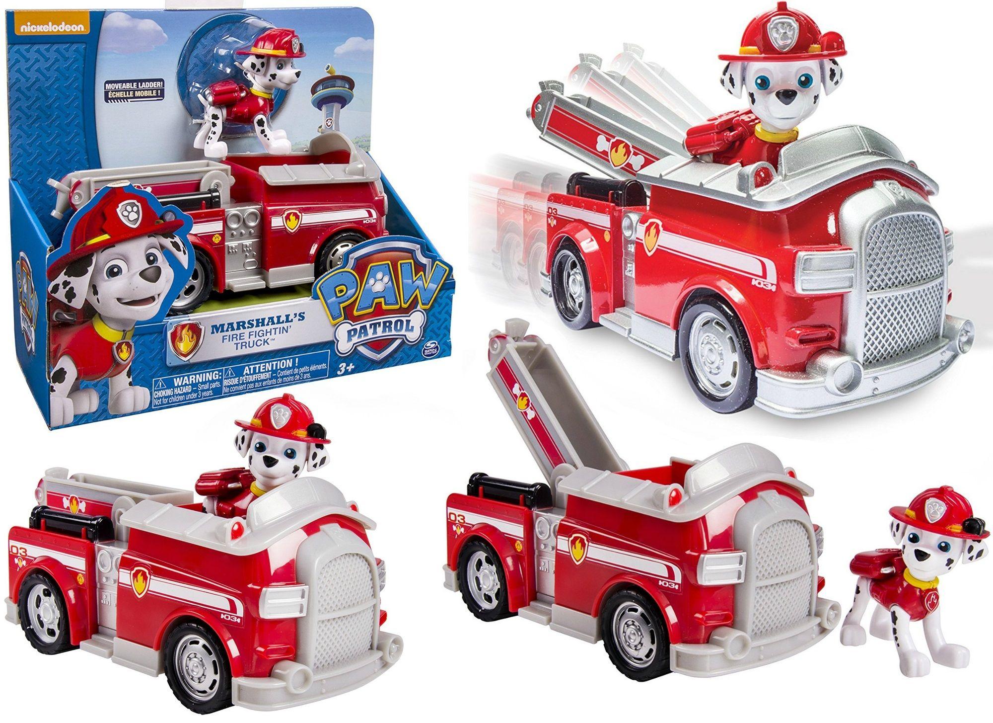 Psi Patrol Wóz Strażacki Marshalla Deluxe Z Dźwiękami I Figurką 20064345