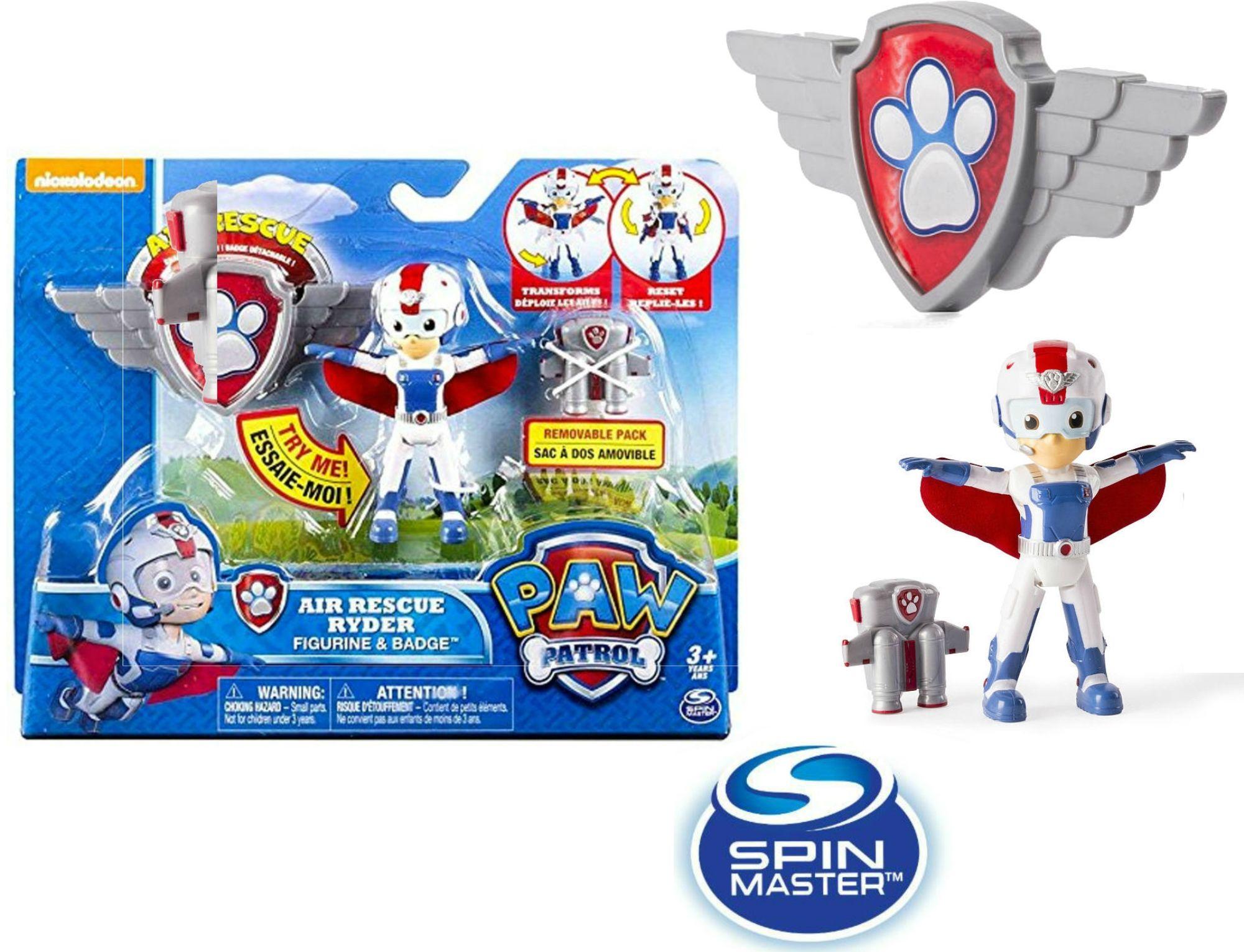 Spin Master Psi Patrol Powietrzny Patrol Figurka Akcji Z Odznaką Ryder