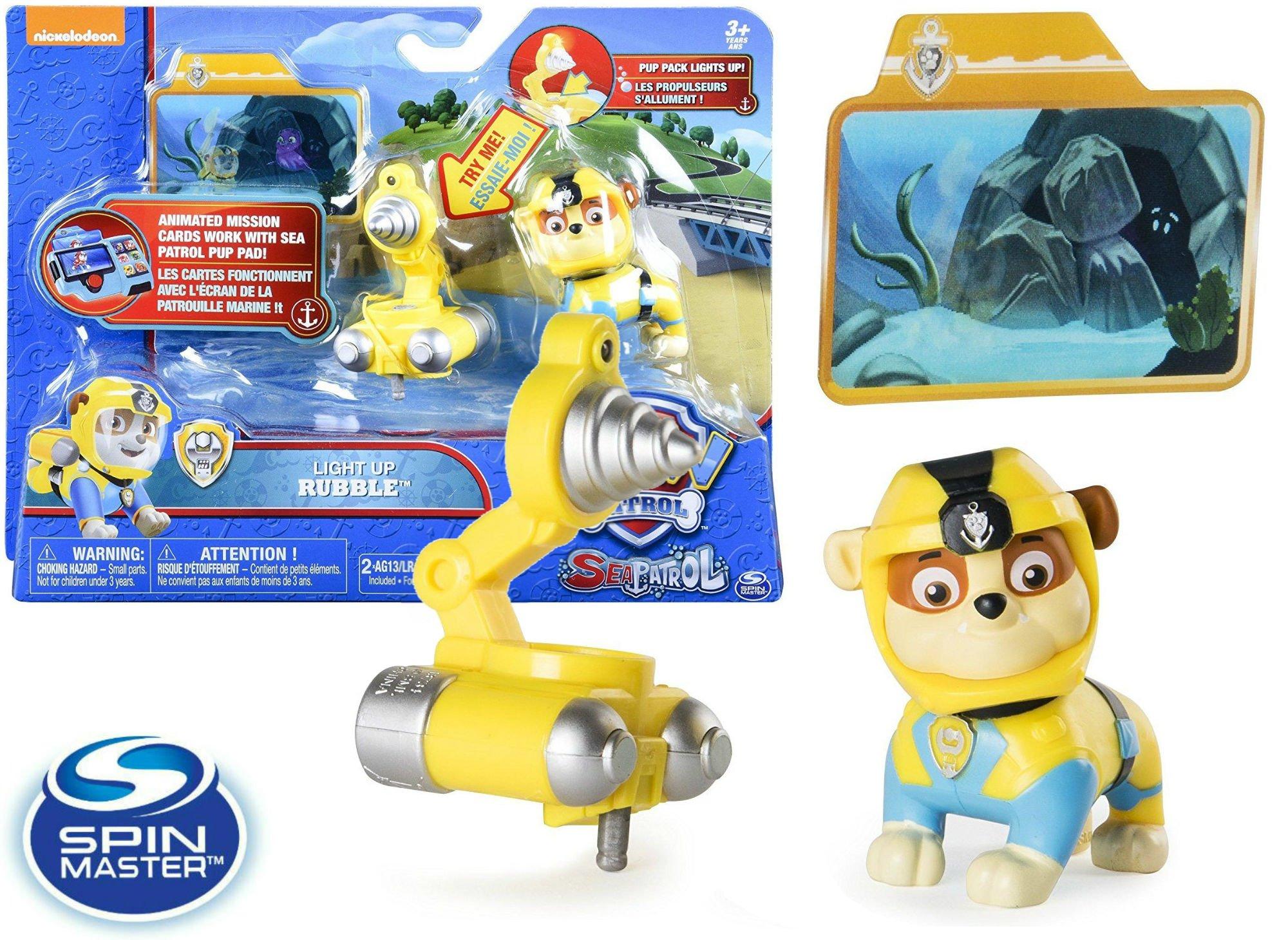 Spin Master Psi Patrol Morski Figurka Akcji Rubble światło