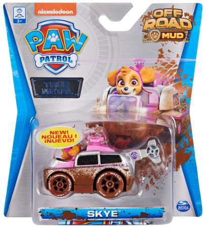 Psi Patrol metalowy pojazd z figurką Skye Off Road Mud